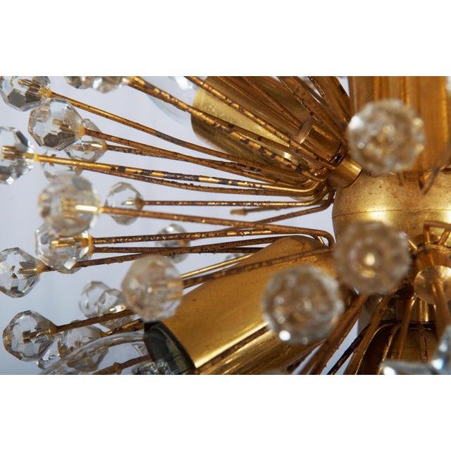 Gold Gilded Sputnik Chandelier, 1972 For Sale - Image 8 of 11