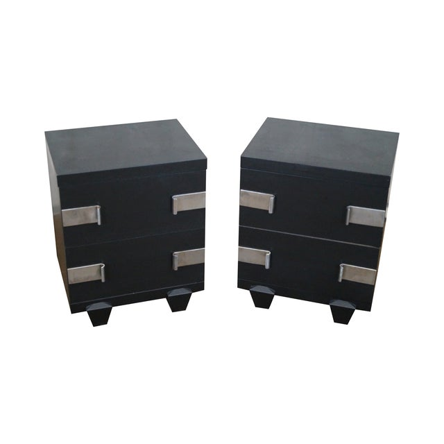 James Mont-Style Nightstands- A Pair - Image 1 of 10