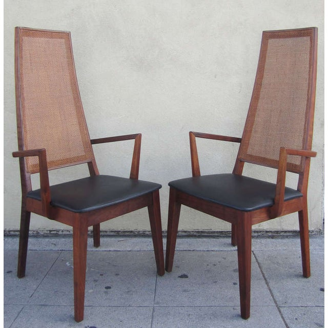 Mid-Century Cane-Back Armchairs by Tempo of Califo - Image 3 of 6