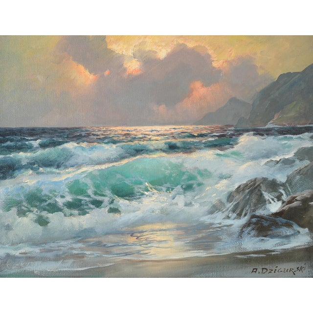 California Shoreline, Oil Painting by A. Dzigurski - Image 3 of 10