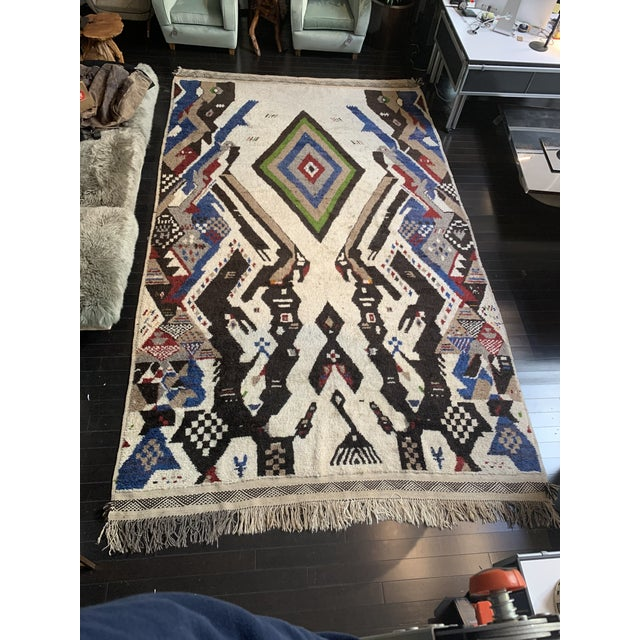 Mid 20th Century 13' X 7' Large Moroccan Rug For Sale - Image 5 of 9