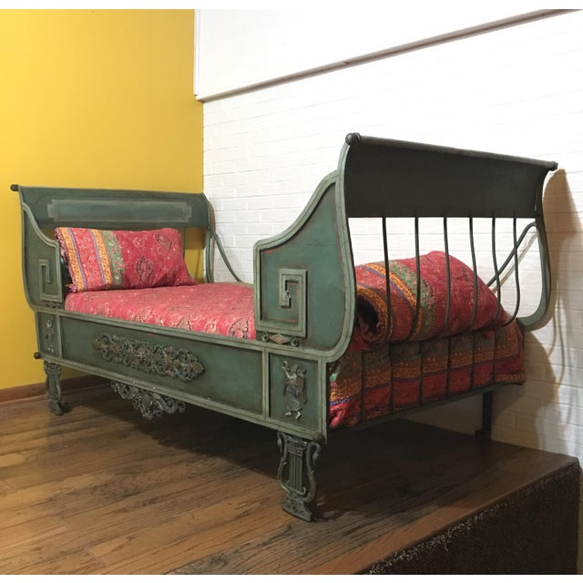 Antique French Iron Daybed For Sale - Image 6 of 12