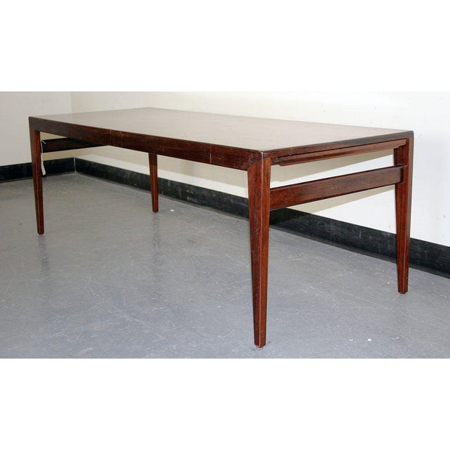 Danish 1950's Rosewood Coffee Table This item includes restricted materials and can not be sold outside of the contiguous...