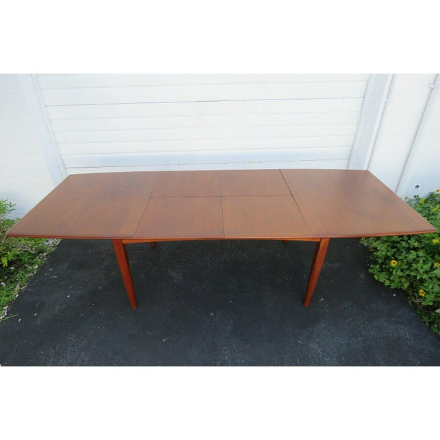 Danish Modern Butterfly Leaf Dining Table Made by Falster For Sale - Image 11 of 11
