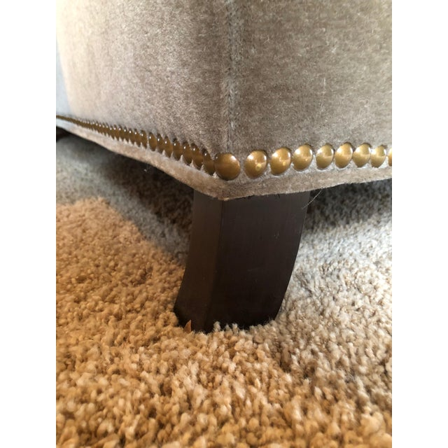 3 Seat Custom Natural Mohair Sofa For Sale - Image 10 of 11