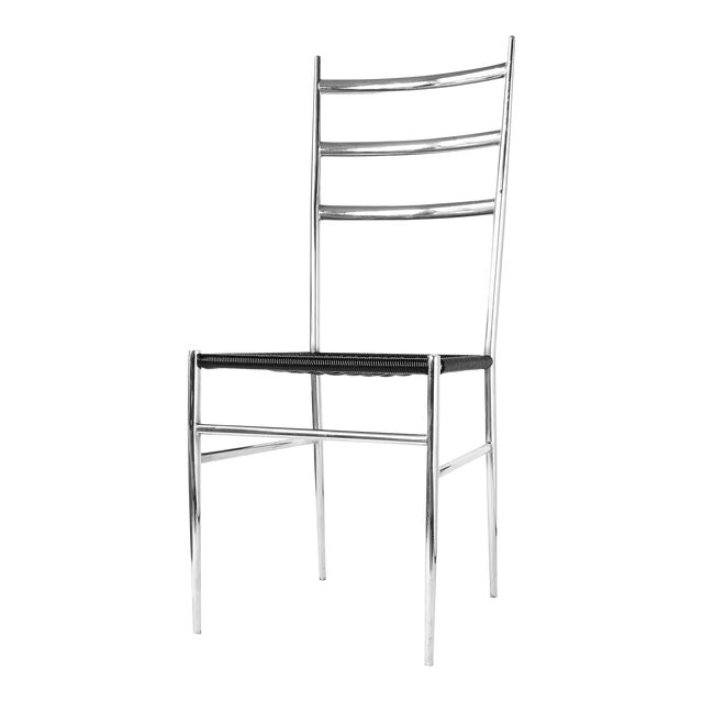 Gio Ponti Style Superleggera High Back Chair For Sale
