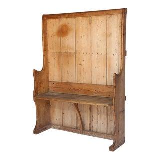 Antique English Pine Settle For Sale