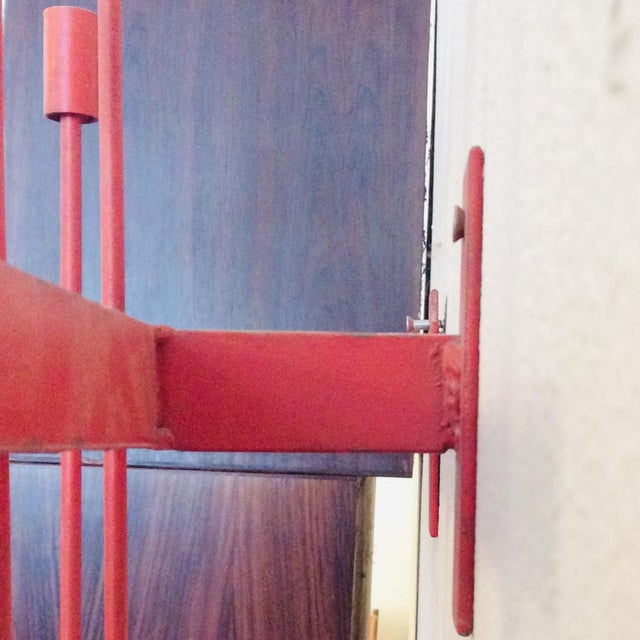 Red Mid-Century Modern Don Drumm Red Wall Sconce Candelabra For Sale - Image 8 of 9