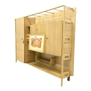 Maple Bookcase with a Surrealist painting for Palazzi dell'arte, Cantù, 1950s For Sale