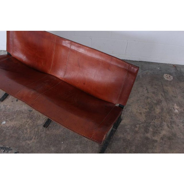 Animal Skin Leather Bench by Max Gottschalk For Sale - Image 7 of 10