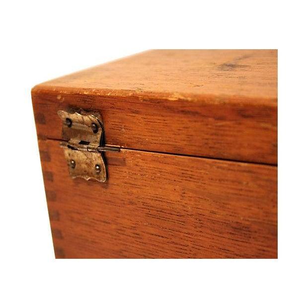 Antique Oak Storage Box - Image 7 of 7