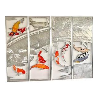 Debbie Carfagno Metal Sculptured Koi Fish For Sale