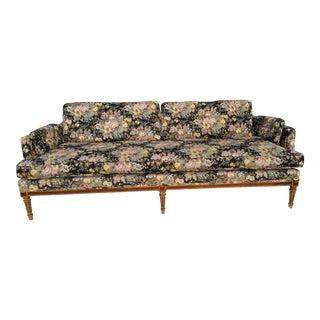 Mid-Century Art Nouveau Floral Sofa