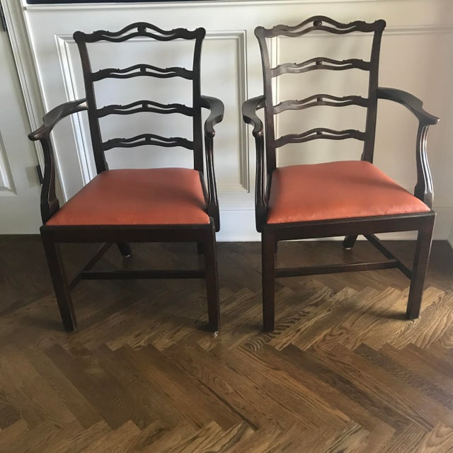 Chippendale Chippendale Ribbon Back Dining Chairs - Set of 8 For Sale - Image 3 of 8