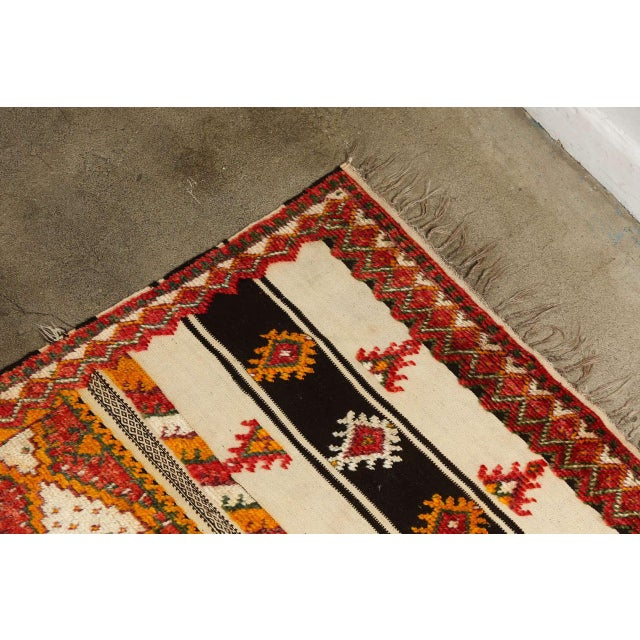 Abstract Moroccan Vintage Tribal Rug For Sale - Image 3 of 10