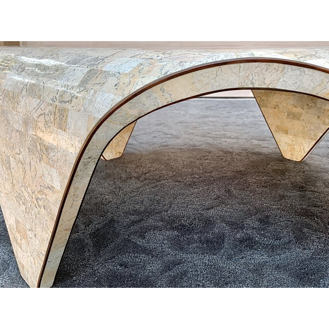 1970s 1970s Vintage Sculptured Tesselated Stone Coffee Table by Maitland-Smith For Sale - Image 5 of 9