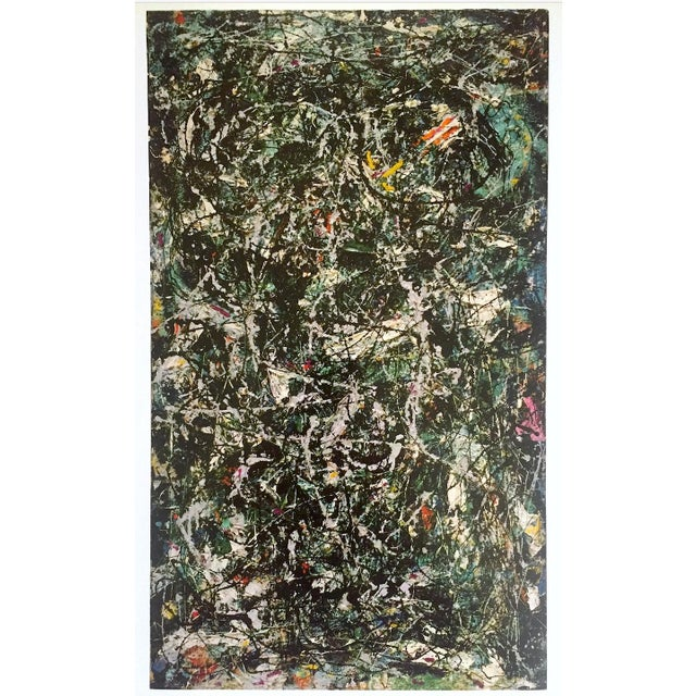 """Jackson Pollock Foundation Abstract Expressionist Collector's Lithograph Print """" Full Fathom Five """" 1947 For Sale - Image 11 of 12"""