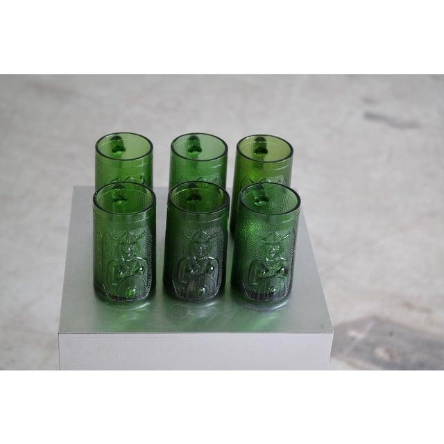 Set of 6 Viking Glass Beer Mugs by John Käll for Elme Glasbruk Sweden For Sale In New York - Image 6 of 8