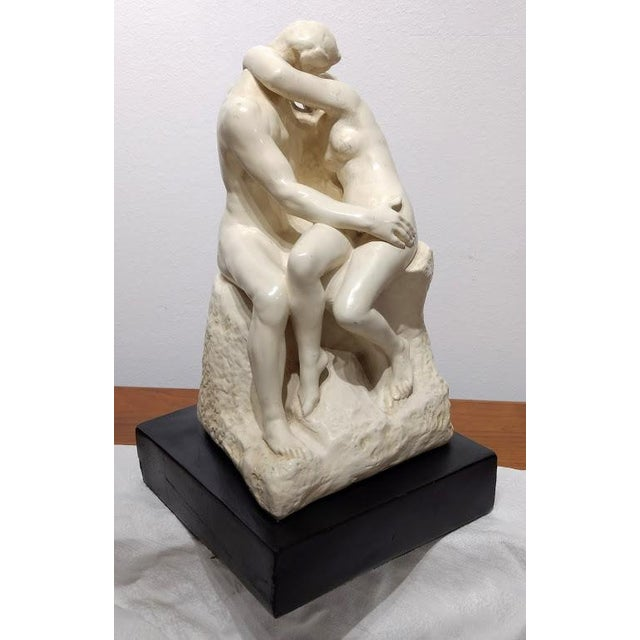 Auguste Rodin 1889 Artist's Sculpture Rendition of Auguste Rodin's the Kiss For Sale - Image 4 of 11