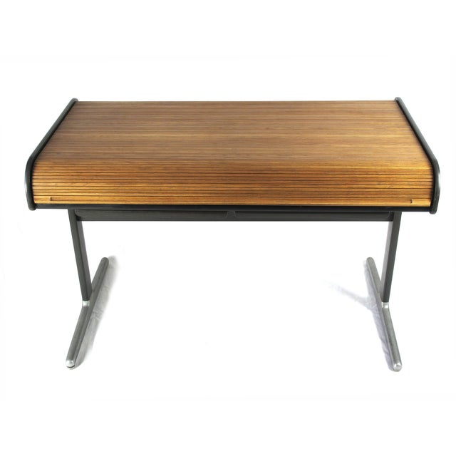1960s 1960s Mid-Century Modern George Nelson Roll Top Desk For Sale - Image 5 of 5