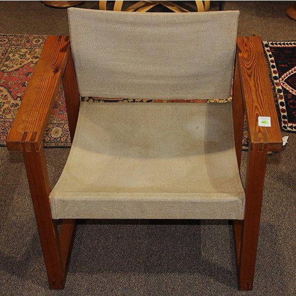 Cool minimal and modern sling chair from Finland, Circa 1970s. This laid back chair can be used as-is or easily...