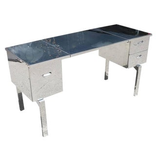 Polished Aluminium WWII Campaign Desk For Sale
