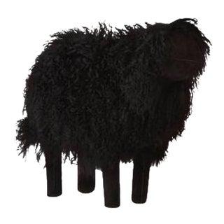 Large Lalanne Style Black Tibetan Lamb Sheep
