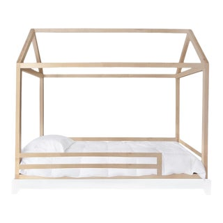Nico & Yeye Domo Bed Canopy Full Bed Maple with Rails For Sale