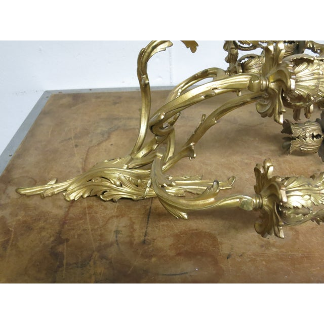 Early 20th Century Early 20th Century Gilt French Sconces Louis the XV Style - a Pair For Sale - Image 5 of 8