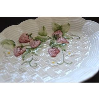 Italian Majolica Strawberry Basketweave Server Plate Preview