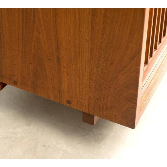 Wood George Nakashima Triple Sliding Door Cabinet, 1968 For Sale - Image 7 of 9