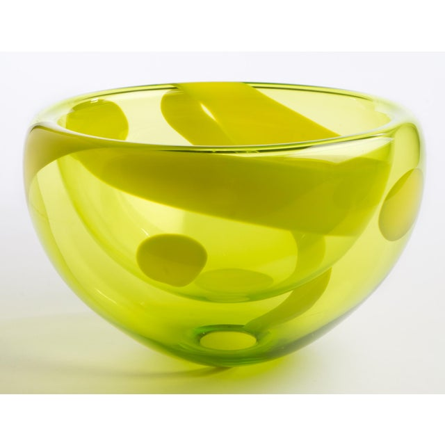 Hand Blown Bubble Glass Bowl - Image 3 of 3