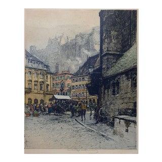 Luigi Kasimir Heidelberg Etching For Sale