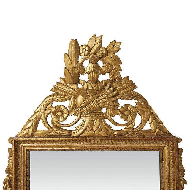 Schumacher 18th Century Louis XVI Carved Gilded Mirror, Circa 1770 For Sale - Image 4 of 7