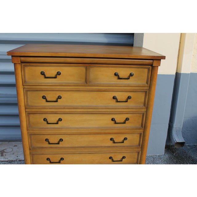 Mid-Century Italian Provincial 12 Drawer Dresser For Sale - Image 5 of 11