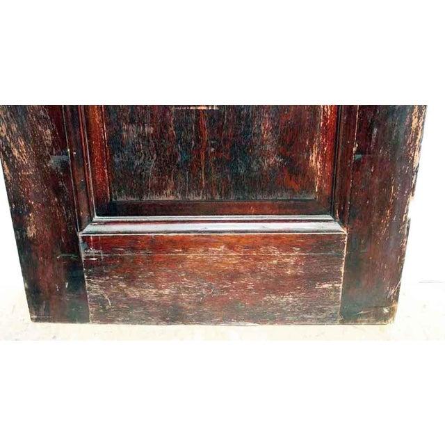 Antique Two Panel Wood Door - Image 4 of 5