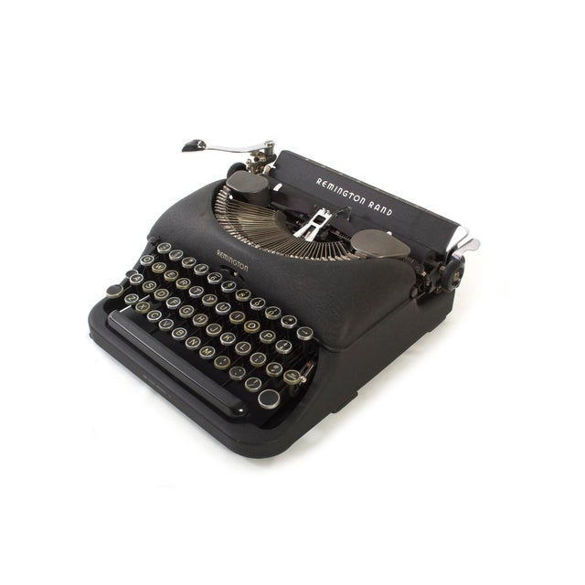Industrial Remington Rand Typewriter - Model 5 in Excellent Working Order For Sale - Image 3 of 9