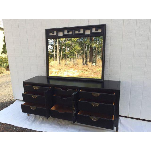 Hollywood Regency James Mont Style Black Mirror For Sale - Image 11 of 12