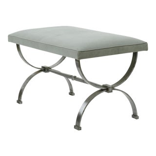 Raymond Subes Brushed Iron Base Bench(attributed) For Sale