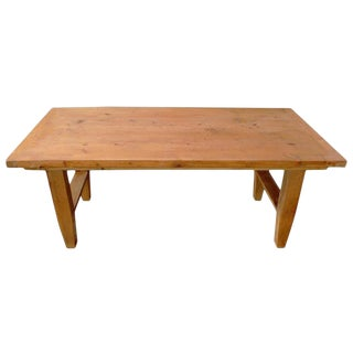 19th Century French Pinewood Country Coffee Table For Sale