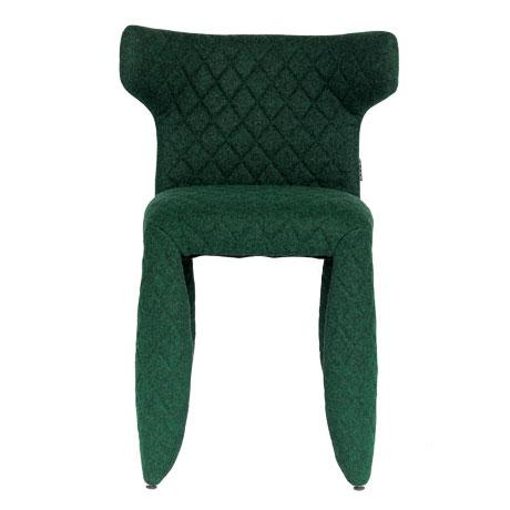 Monster Chair With Arms By Moooi A soft, puffy and stylish chair upholstered in heathered green wool with embroidered...