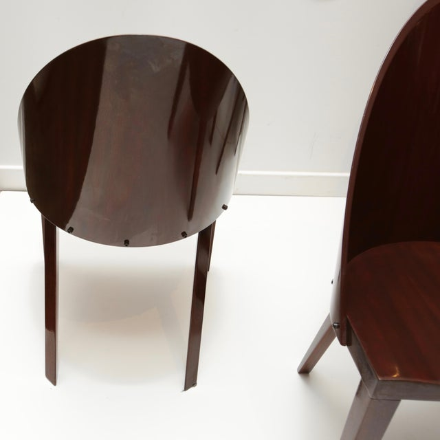 Contemporary Philippe Starck Royalton Mahogany Dining Chairs - Set of 6 For Sale - Image 3 of 8