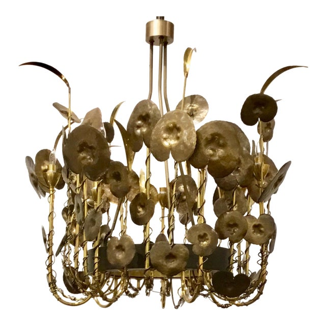 Modern Brutalist Style Lily Pad Chandelier By: Studio a Home For Sale