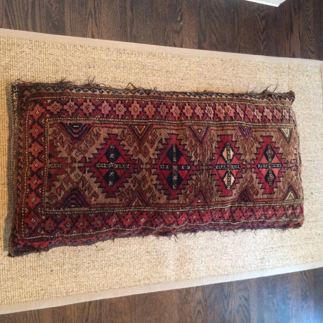 Vintage Rug Remnant Floor Pillow - Image 2 of 10