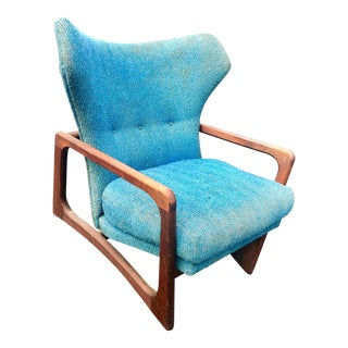 1960s Mid-Century Modern Adrian Pearsall Wing Lounge Chair For Sale