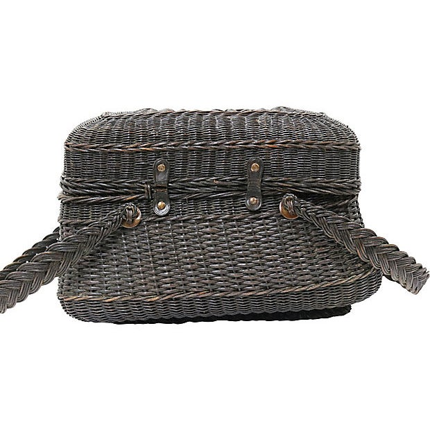 Antique French Covered Basket For Sale - Image 4 of 5