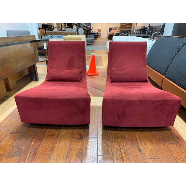 Red Ligne Roset Neo Fireside Rocking Chairs- a Pair For Sale - Image 8 of 8