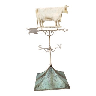 Antique Cow Weathervane, Directional and Cupola For Sale