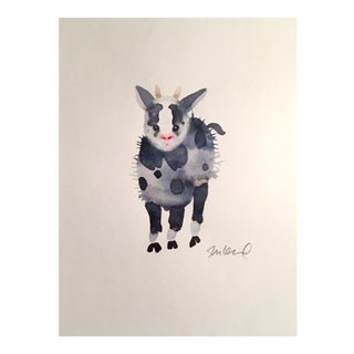 """Baby Goat"" Original Watercolor Painting"