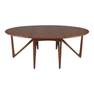 Danish Modern Drop-Leaf Dining Table For Sale